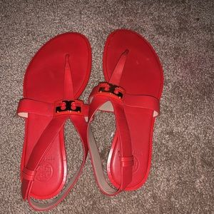 Tory Burch orange/red sandals size 8.5